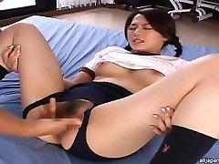 Sae Mizuki Hot Asian student gets hot bukkake session