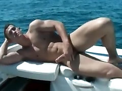 Dude wanking his fine cock on a boat part5