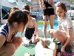 Cock hungry asian sluts sucking, fucking part1