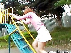 Tiny asian redhead sucking cock part5