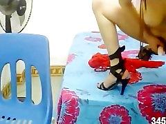 Asian Taiwan Japanese Beauty Masturbation webcam Teen Creampie Mother