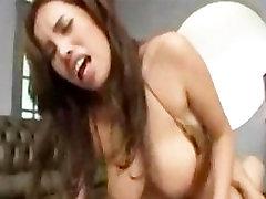 AMBW Blasian Tina interracial with Asian guy
