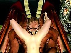 3d Devil Fucks Tight Pussy