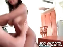 Big Tit Asian Give Blow and Fucks White Cock
