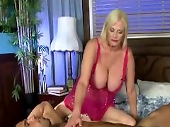 Blonde mature with huge tits