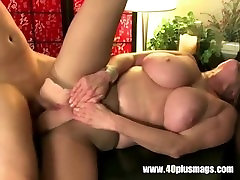 Big tits mature with Pierced pussy