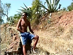 Two horny twinks fucking dirty outdoors