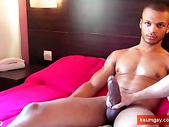 Mixed arab guy get wanked his huge cock by a guy in spite of him !