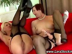 Milfs lesbian strapon fuck