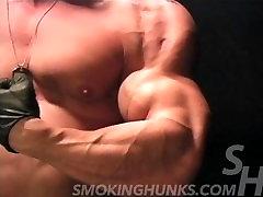 Peter Latz DVD 266 Cigar Smoking Muscled Police Officer