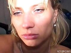 Cute blonde mature takes a hard dick deep
