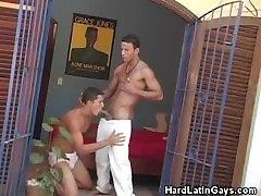 Goo Morning Blowjob For These Latino Men