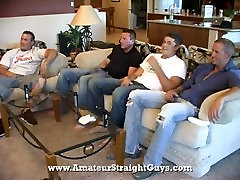 Straight guys circle jerk