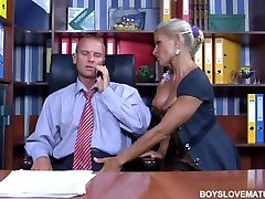 Hot mature with tattoo the office