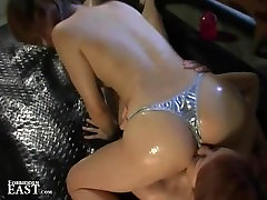 Japanese FemDom Dominates Lesbian Submissive With Face Sitting And BDSM