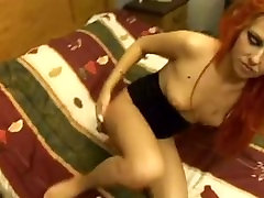 Redhead goth is into anal from big cock