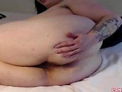 Im a curvy busty mature BBW and Im masturbating my sweet oiled holes!