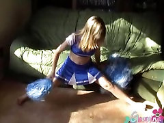 Amateur teen shows off her perky tits and plays with her tight shaved pussy
