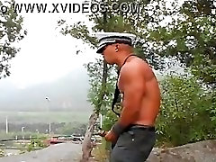 Asian Officer Huge CumShot
