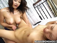 Japanese slavegirl enjoys kinky scissoring