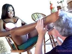 Candice Nicole dominates Deviant David w her hot ebony feet