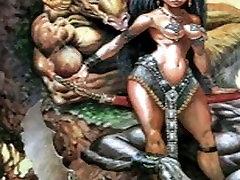 Extreme bizarre fantasy art comic