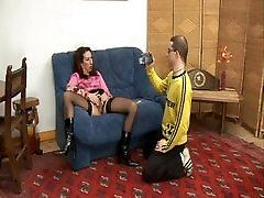 Hairy Anal Milf in Stockings Gaping