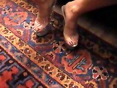 Blonde Milf Inserts High Heel Mules In Her Pussy - GREAT VID - Heelslovers