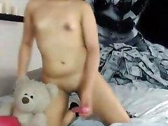 Hot sexy latin teen Naomi Evans pussy playing