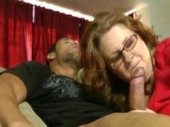 Big Tit BBW MILF Teacher Fucks Her Hunk Latno Student