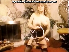 Vintage sex video with a busty chick