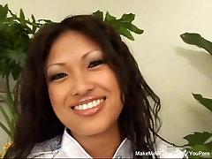 Horny Asian wants a cum inside her