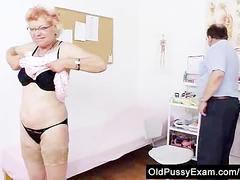 Furry vag gramma needs a pussy examination