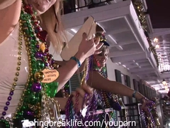 Mardi Gras Partiers in New Orleans
