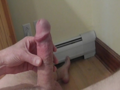 Mature hard cock jerkoff 5 - leaking and cum shot