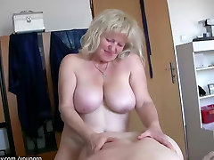 BBW granny and old mature have sex, granny teaches