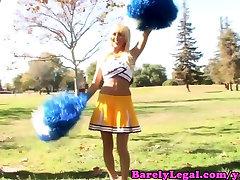 Breanne Benson cheerleader gets crempied