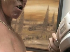 Two lesbian matures, blonde mature and skinny mature