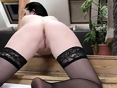 Hot Babe Daniela In Her Black Stockings