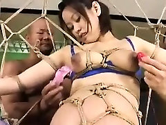 Pregnant moms are tied up, fucked and hung in a rope sex sw