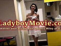 Amateur Ladyboy Miley Anal Fucked