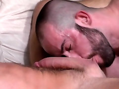 Muscled gay cum sprayed