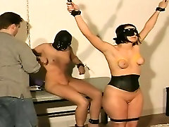 These girls enjoy hooks & chains in their boobs