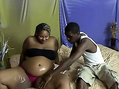 Pregnant BBW rides on a stiff rod
