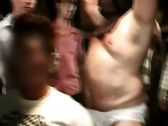 College chaps experiment with homosexual sex in dorm room