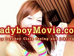 Ladyboy Ciara Solo Stroking