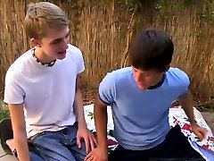 Cute young gay white twinks first time Anniversary introduce