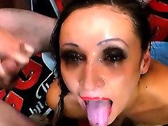 Throating slut bukkaked