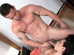 Anal and tit fuck with tranny