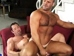 Buff stud getting fucked in the ass by a mature stud